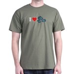I Love Rocks Dark T-Shirt