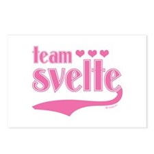 Team Svelte Pink Hearts Postcards (Package of 8)
