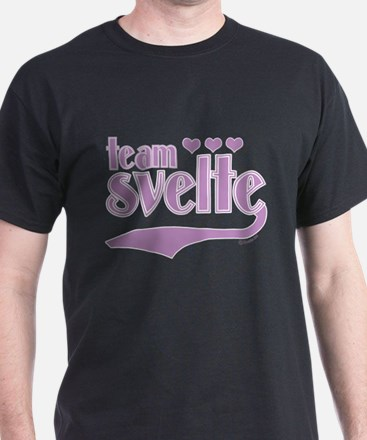Team Svelte Lilac Hearts T-Shirt