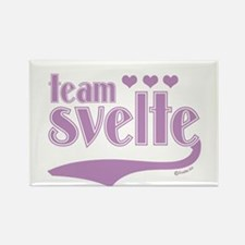Team Svelte Lilac Hearts Rectangle Magnet