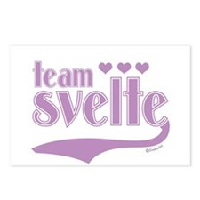 Team Svelte Lilac Hearts Postcards (Package of 8)