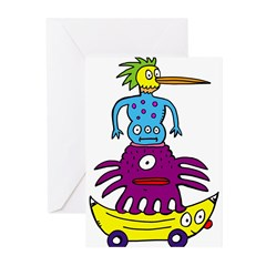 Funky Totem Greeting Cards (Pk of 10)