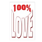 100% Love Postcards (Package of 8)