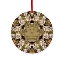 Barred Owl Mandala Ornament (Round)