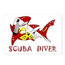 SCUBA Shark Postcards (Package of 8)