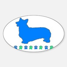Pembroke Paws Oval Decal