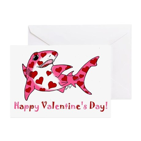 Valentine Shark Greeting Cards (Pk of 20)