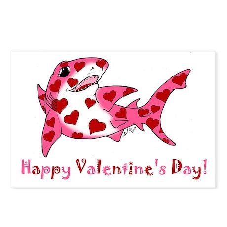 Valentine Shark Postcards (Package of 8)
