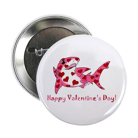 """Valentine Shark 2.25"""" Button"""