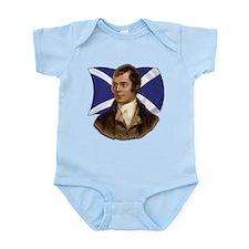 Robert Burns with Scottish Flag Infant Bodysuit