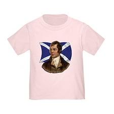 Robert Burns with Scottish Flag T