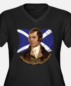 Robert Burns with Scottish Flag Women's Plus Size