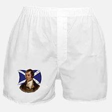 Robert Burns with Scottish Flag Boxer Shorts
