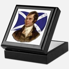Robert Burns with Scottish Flag Keepsake Box