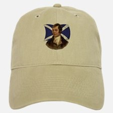 Robert Burns with Scottish Flag Baseball Baseball Cap
