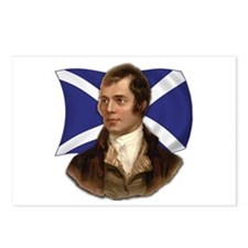 Robert Burns with Scottish Flag Postcards (Package