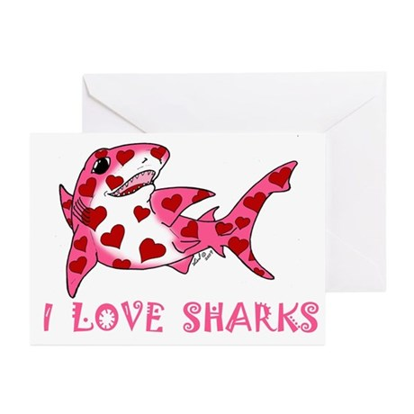 I Love Sharks Greeting Cards (Pk of 20)