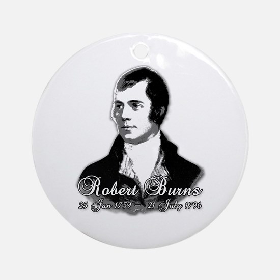 Robert Burns Commemorative Ornament (Round)