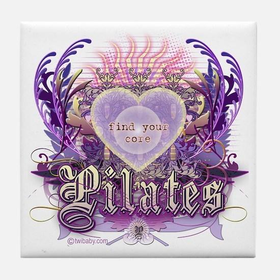 Find Your Core Pilates Tile Coaster