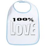 100% Love Bib