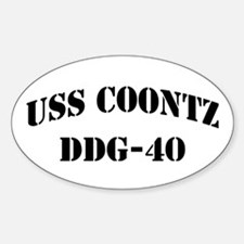 USS COONTZ Oval Decal