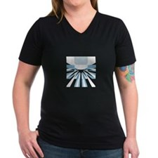 Composite Logo Women's V-Neck Dark T-Shirt