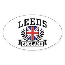 Leeds England Oval Decal