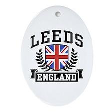 Leeds England Oval Ornament