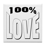 100% Love Tile Coaster