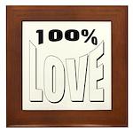 100% Love Framed Tile