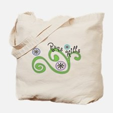 Runs Hills Tote Bag