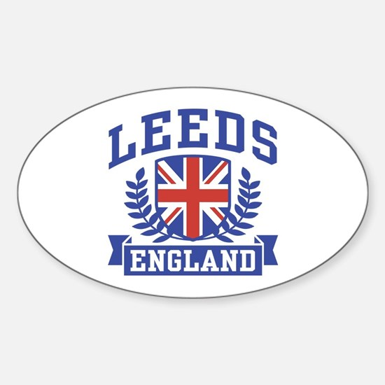 Leeds England Oval Decal