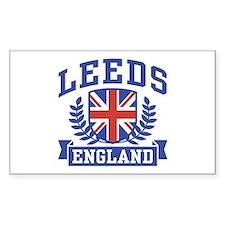 Leeds England Rectangle Decal