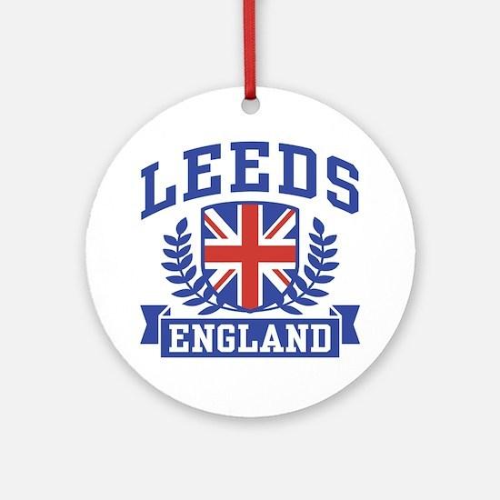 Leeds England Ornament (Round)