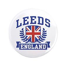 "Leeds England 3.5"" Button"