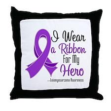 Hero - Leiomyosarcoma Throw Pillow