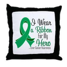 Hero - Liver Cancer Throw Pillow