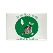 Golf, Raccoon Rectangle Magnet Magnets