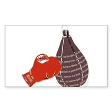 Hit the Gym Rectangle Sticker 50 pk)