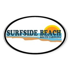 Surfside Beach SC - Beach Design Oval Decal