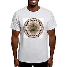 Barred Owl Mandala Ash Grey T-Shirt