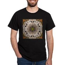Barred Owl Mandala Black T-Shirt