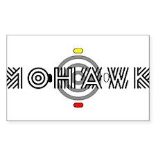 Mohawk Rectangle Bumper Stickers