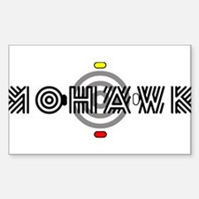 Mohawk Rectangle Bumper Stickers