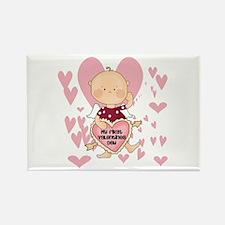 Angel Baby Valentine Rectangle Magnet