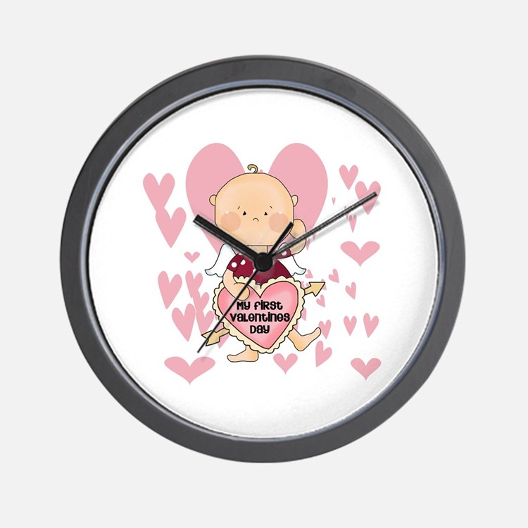 Angel Baby Valentine Wall Clock