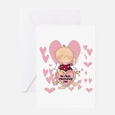 Angel Baby Valentine Greeting Card