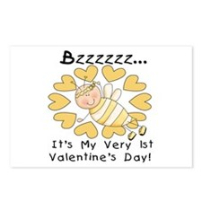 Bee 1st Valentine's Day Postcards (Package of 8)