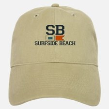 Surfside Beach SC - Nautical Design Baseball Baseball Cap