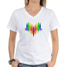 Rainbow Kayaker's Heart Shirt
